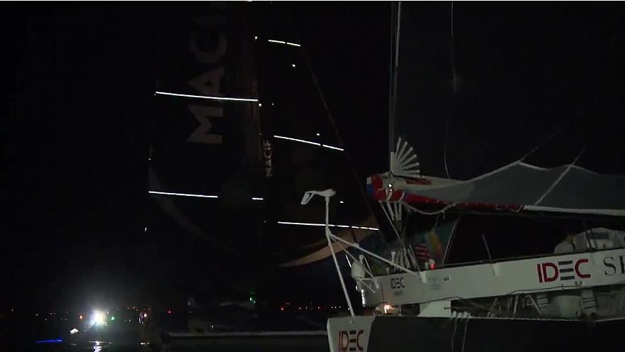 Route du Rhum 2018: Arrivée des 2 Ultimes Idec Sport et Macif avec la victoire incroyable de Francis JOYON sur Idec Sport