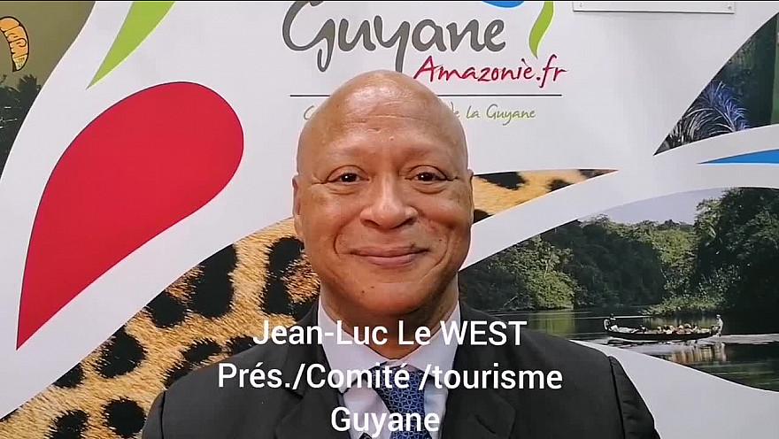 1 minute pour découvrir la Guyane : Jean-Luc le WEST Président du comité du tourisme de Guyane au salon IFTM Top Resa 2021 à Paris.